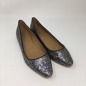 Talbots Rainbow Glitter Ballet Flat Size 7.5